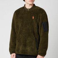 Polo Ralph Lauren Men's Curly Sherpa Sweatshirt - Company Olive - L