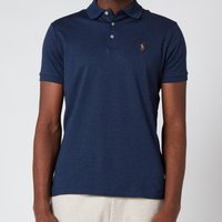Polo Ralph Lauren Mens Interlock Pima Polo Shirt - Spring Navy Heather - M