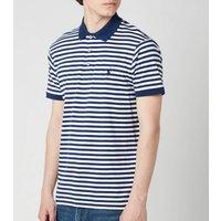 Polo Ralph Lauren Mens Interlock Striped Slim Fit Polo Shirt - Freshwater/White - XL