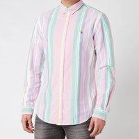 Polo Ralph Lauren Men's Slim Fit Oxford Shirt - Pink/Green Multi - L
