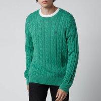 Polo Ralph Lauren Men's Cable Knit Jumper - Potomac Green Heather - M