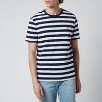 Polo Ralph Lauren Men's Jersey Stripe T-Shirt - White/French Navy - L