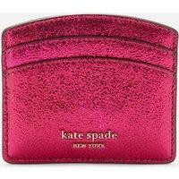 Kate Spade New York Women's Spencer Metallic Card Holder - Rhododendron