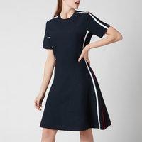 Tommy Hilfiger Womens Colourblock FandF Short Dress - Desert Sky - XS