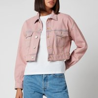 Tommy Jeans Womens Cropped Trucker Jacket PDC - Pink Daisy -