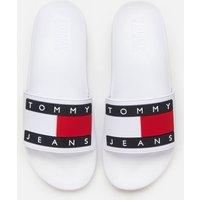 Tommy Jeans Men's Flag Pool Slide Sandals - White - UK 11