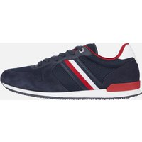 Tommy Hilfiger Men's Iconic Material Mix Running Style Trainers - Desert Sky - UK 10