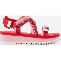 Tommy Jeans Women's Webbing Strappy Sandals - Bubble Pink - UK 5