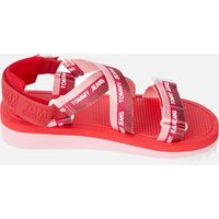 Tommy Jeans Women's Webbing Strappy Sandals - Bubble Pink - UK 7