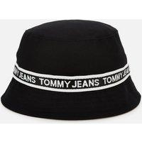 Tommy Jeans Women's Mini Logo Tape Bucket Hat - Black