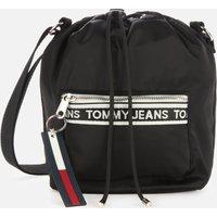 Tommy Jeans Women's Mini Logo Tape Bucket Bag - Black