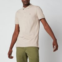 Tommy Jeans Mens Classic Slim Fit Stretch Polo Shirt - Soft Beige - XL