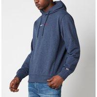 Tommy Jeans Men's Straight Logo Hoodie - Twilight Navy HTR - XL