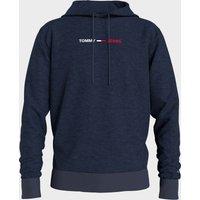 Tommy Jeans Men's Straight Logo Hoodie - Twilight Navy HTR - M