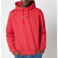 Tommy Jeans Men's Straight Logo Hoodie - Deep Crimson HTR - XXL