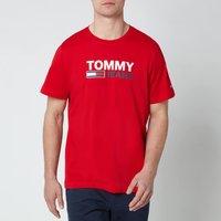Tommy Jeans Men's Corporation Logo T-Shirt - Deep Crimson - M