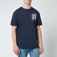 Tommy Jeans Men's Repeat Script Logo T-Shirt - Twilight Navy - M