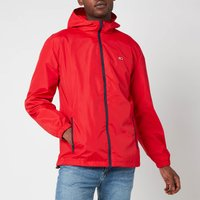 Tommy Jeans Mens Packable Windbreaker Jacket - Deep Crimson - L