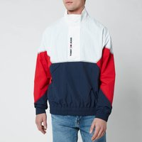 Tommy Jeans Mens Lightweight Popover Jacket - White Multi - M