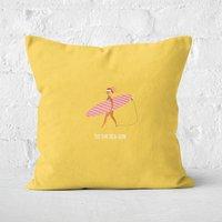 Tis The Sea Sun Square Cushion - 50x50cm - Soft Touch