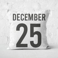 December 25 Square Cushion - 50x50cm - Soft Touch
