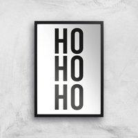Ho Ho Ho Giclee Art Print - A3 - Black Frame