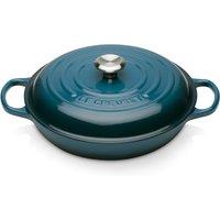 Le Creuset Signature Cast Iron Shallow Casserole Dish - 26cm - Deep Teal