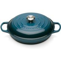 Le Creuset Signature Cast Iron Shallow Casserole Dish - 30cm - Deep Teal