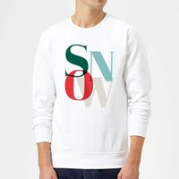 Graphical Snow Sweatshirt - White - XXL - White