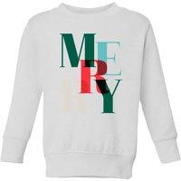 Graphic Merry Kids' Sweatshirt - White - 7-8 Years - White