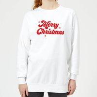 Merry Christmas Women's Sweatshirt - White - S - White