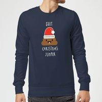 Shit Christmas Jumper Sweatshirt - Navy - S - Navy