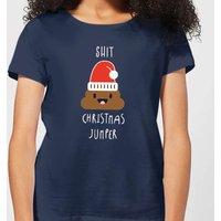 Shit Christmas Jumper Women's T-Shirt - Navy - L - Navy