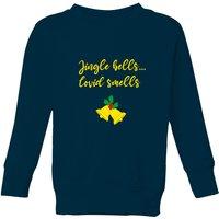Jingle Bells Covid Smells Kids' Sweatshirt - Navy - 11-12 Years - Navy