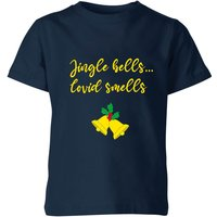 Jingle Bells Covid Smells Kids' T-Shirt - Navy - 7-8 Years - Navy