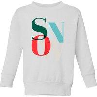 Graphical Snow Kids' Sweatshirt - White - 9-10 Years - White