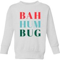Bah Hum Bug Kids' Sweatshirt - White - 7-8 Years - White