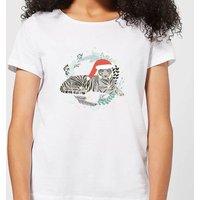 Snow Tiger Women's T-Shirt - White - XXL - White