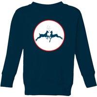 Reindeer Kisses Kids' Sweatshirt - Navy - 5-6 Years - Navy