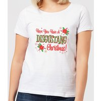 Hope You Have A Disgustang Christmas Festive Women's T-Shirt - White - 4XL - White