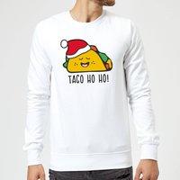 Taco Ho Ho! Sweatshirt - White - XXL - White