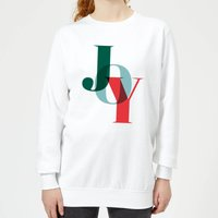 Graphical Joy Women's Sweatshirt - White - XXL - White