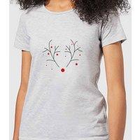 Graphical Rudolph Women's T-Shirt - Grey - 5XL - Grey