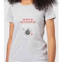 Disco Merry Christmas Tinsel Tits Women's T-Shirt - Grey - XS - Grey