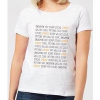 Snowman Items Women's T-Shirt - White - L - White