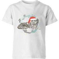 Snow Tiger Kids' T-Shirt - White - 7-8 Years - White