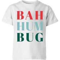 Bah Hum Bug Kids' T-Shirt - White - 5-6 Years - White