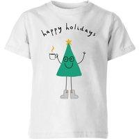 Happy Holidays Kids' T-Shirt - White - 3-4 Years - White