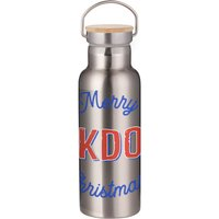 Merry Lockdown Christmas Portable Insulated Water Bottle - Steel