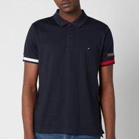Tommy Hilfiger Men's Flag Cuff Slim Fit Polo Shirt - Desert Sky - L